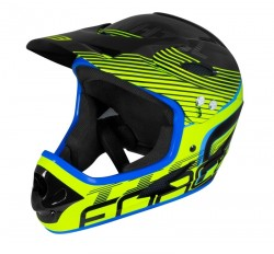 FORCE TIGER downhill přilba, černo-fluo