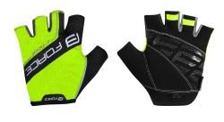 FORCE RIVAL rukavice fluo-černé