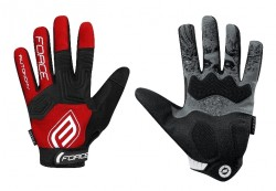 FORCE MTB AUTONOMY 17 rukavice, červené