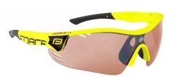 Brýle FORCE RACE PRO fluo, rozjasňovací skla