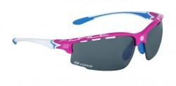 FORCE QUEEN brýle růžovo-bílé, černá laser skla
