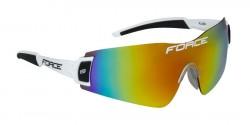 FORCE FLASH brýle, bílo-černé, červená laser skla