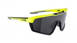 Brýle FORCE APEX, fluo-černé, černé skla