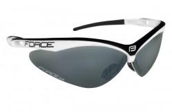 FORCE AIR brýle bílo-černé, černá laser skla