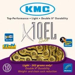 Řetěz KMC X-10 EL light GOLD