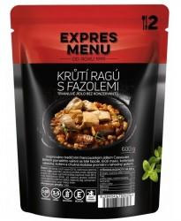 Expres Menu - jídlo na cesty - Krůtí ragú s fazolemi 600g/2porce