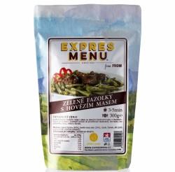 Expres Menu - jídlo na cesty - Zelené fazolky s hovězím masem 300g/1porce
