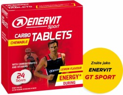 ENERVIT CARBO TABLETS box, energy tablet,citron