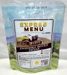 Expres Menu - jídlo na cesty - Znojemská hovězí pečeně 300g/1porce