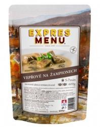 Expres Menu - jídlo na cesty - Vepřové na žampionech 600g/2porce
