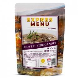 Expres Menu - jídlo na cesty - Hovězí Stroganoff 600g/2porce