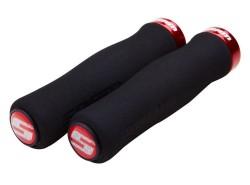 SRAM Locking gripy pěnové tvarované, červená objímka