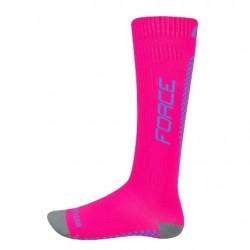 FORCE TESSERA KOMPRESNÍ širší ponožky, růžové