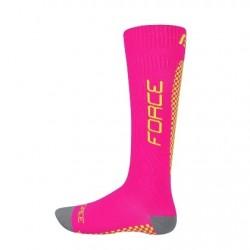 FORCE TESSERA KOMPRESNÍ ponožky, růžové-fluo